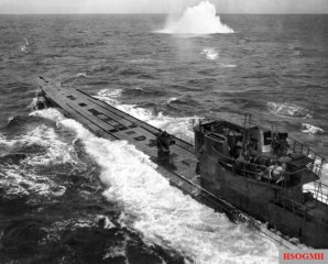U-848 under attack by a US Navy Consolidated PB4Y-1 Liberator in November 1943.