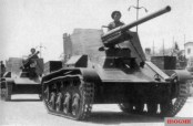 A Romanian A TACAM T-60 during the National Day parade, 10 May 1943.