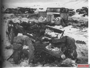 Some of the destroyed German equipment following the attempt to break out from Korsun.