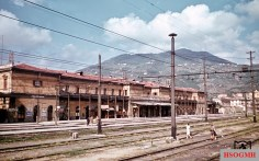 View of the still-spared-from-war La Spezia train station in northern Italy, August 1944. The picture was taken by Reichsbahn photographer Walter Hollnagel.