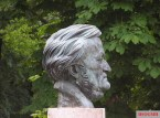 Bust of Richard Wagner in Bayreuth.