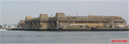 Keroman III Submarine Base, a former German submarine base in Lorient, Brittany.