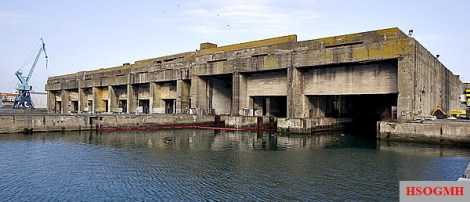 The U-Boat pens at La Rochelle.