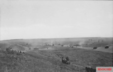 Vehicles of II SS-Panzer Corps advancing toward Prokhorovka on 11 July.