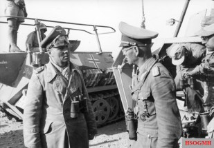 Bismarck (right) with Erwin Rommel.