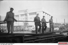 Construction of the U-boat base at La Pallice, 1942.