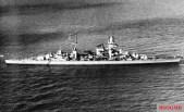 Prinz Eugen underway.