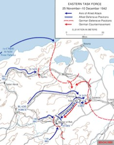 Tunisia Campaign operations 25 November to 10 December 1942.