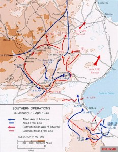 8th Army operations, 30 January to 10 April 1943.