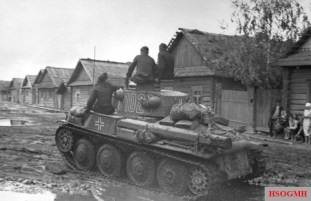 A Panzer 38t in the Soviet Union, June 1941.
