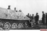 Field Marshal Gerd von Rundstedt inspects SS Division Hitlerjugend at Beverloo Camp, January 1944.