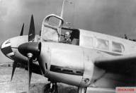 Kesselring at the controls of a Siebel Fh 104 aircraft.
