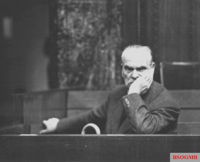 Sperrle during the High Command Trial in Nuremberg, 1948.
