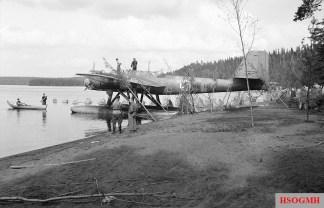 Heinkel He 115A of LeLv 15 on lake Höytiäinen. August 1941.