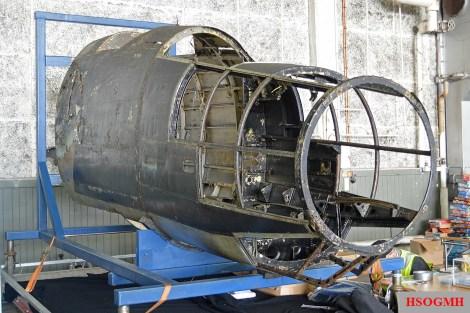Heinkel He 115 in restoration at the Flyhistorisk Museum, Sola.