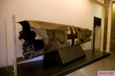 Part of the fuselage of Hess's Bf 110. Imperial War Museum, 2008.