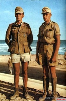 Hans Dietrich Riesl (left) and Lucius Günther Schrivenbach in Africa. Their last ranks is Oberst.