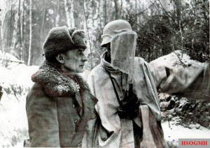 Generalleutnant Walther Graeßner (left) in the Eastern Front.