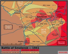 German and Soviet movements near Smolensk, 10 July – 4 August.