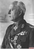 Romanian general Petre Dumitrescu received the German Ritterkreuz des Eisernen Kreuzes (Knight's Cross of the Iron Crosses) in 1 September 1942 after leading his Third Army to victories against the Soviet forces in Crimea, Eastern Front.
