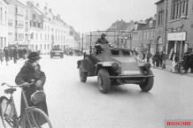 German Leichter Panzerspähwagen armoured car in Jutland.
