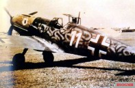 "A Messerschmitt Bf 109 E ""White 11"" of II.Gruppe / Jagdgeschwader 54 (JG 54), handed over to a training unit after the first Bf 109 F fighters had arrived in the Russian theatre."