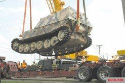 The preserved American-captured Elefant, showing the suspension it shared with the VK 4501 (P) chassis.
