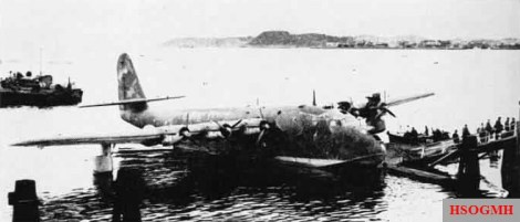 A captured BV 222 at Trondheim, Norway after the war.