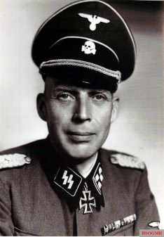 SS-Oberführer Friedrich-Wilhelm Bock with the rank of SS-Obersturmbannführer in the picture.