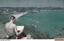 Marine painter at the port of Konstanza 1941.