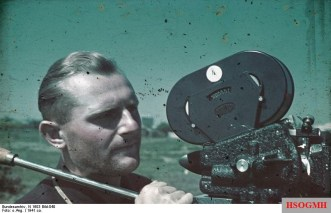 Horst Grund with an Arriflex camera 1941 in Konstanza.
