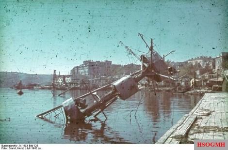 The destroyed port of Sevastopol 1942.