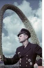 Horst Grund as marine film reporter in Agrigento 1943.