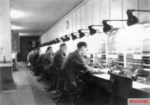 A telephone exchange of the complex, 1942.