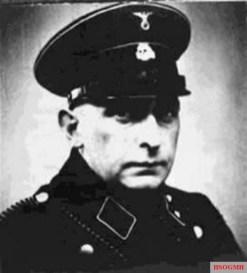 Blobel in SS uniform, c. 1940.