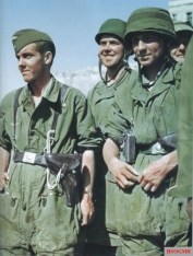German Fallschirmjäger (Paratroopers) at Crete with graugrun knochensack, summer of 1941.