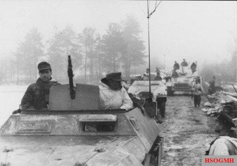 White washed equipment of the 16. Panzer-Division.