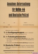 Blank form for admission to the Waffen-SS or German Police.