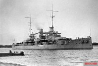 SMS Rheinland, a Nassau-class battleship, Germany's first response to the British Dreadnought.