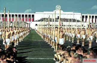Hitler Youth at the Nazi Party Rally in Nuremberg.