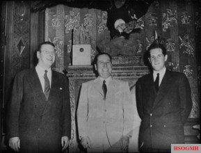 Otto Skorzeny (left) and Juan Perón (center).