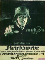 Advertising for entry into the Reichswehr in Bavaria.