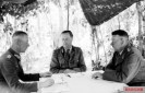 Werner Kempf (right) at a briefing with Hermann Breith (center) and Walter Chales de Beaulieu (left) near Kursk on June 21, 1943.