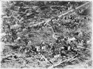 Aerial view of ruins of Vaux-devant-Damloup, France, 1918.