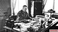 Generaloberst Rudolf Schmidt (Oberbefehlshaber 2. Panzerarmee) at his desk in Orjol, Russia, 1942.