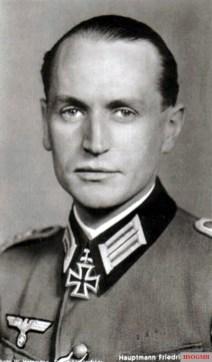 Hauptmann Friedrich Bauer (23 September 1913 - 10 September 1943) in the Hoffmann Postcard Ritterkreuzträger Series R 248.