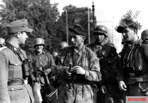 """September 1944, the Anglo-American enclosure plan at Arnhem failed. Grenadiers of the 363rd Volksgrenadier Division, police, paratroopers, and SS tank grenadiers of the 9th SS Panzer Division """"Hohenstaufen"""" and the 10th SS Panzer Division """"Frundsberg"""" together destroyed the 1st British Air Division, which tried to break through the Netherlands in the Reich territory."""