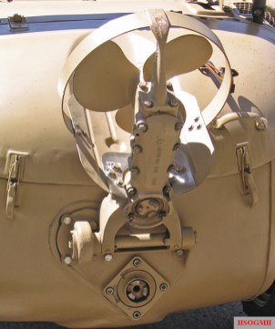 Detail of Schwimmwagen propeller.