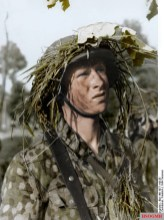 A soldier of an SS-Grenadier Panzer division, Normandy, 1944.