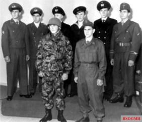 Display of early Bundeswehr uniforms.